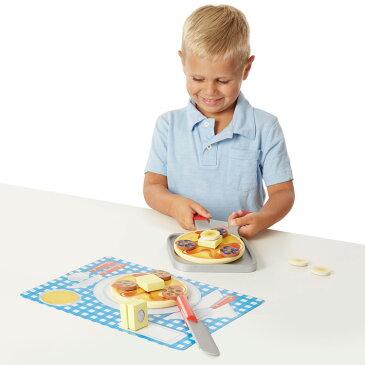 【6月20日〜25日セール】メリッサ&ダグ パンケーキセット 木製 ままごと セット カッティングフード Melissa&Doug 9342