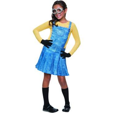 【ママ割エントリーでP5】 ハロウィン 衣装 子供 ルービーズ ミニオン コスチューム 女の子 105-150cm Rubis's 610786