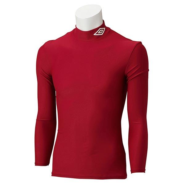 UMBRO アンブロ UAS9300J ジュニア ロング コンプレッションシャツ 長袖 サッカー インナーウェア レッド