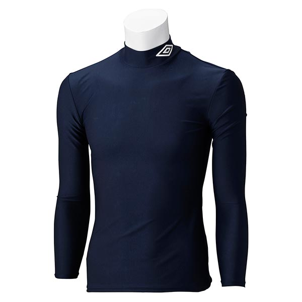 UMBRO アンブロ UAS9300J ジュニア ロング コンプレッションシャツ 長袖 サッカー インナーウェア ネイビー