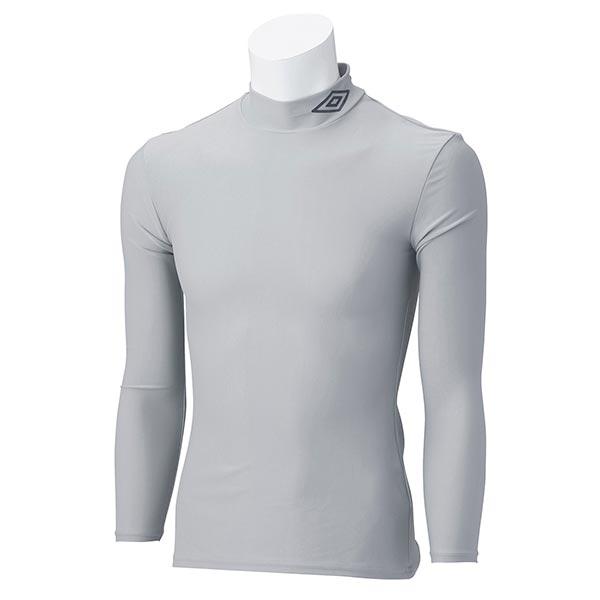 UMBRO アンブロ UAS9300J ジュニア ロング コンプレッションシャツ 長袖 サッカー インナーウェア シルバー