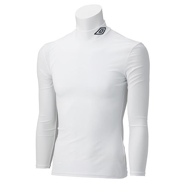 UMBRO アンブロ UAS9300J ジュニア ロング コンプレッションシャツ 長袖 サッカー インナーウェア ホワイト