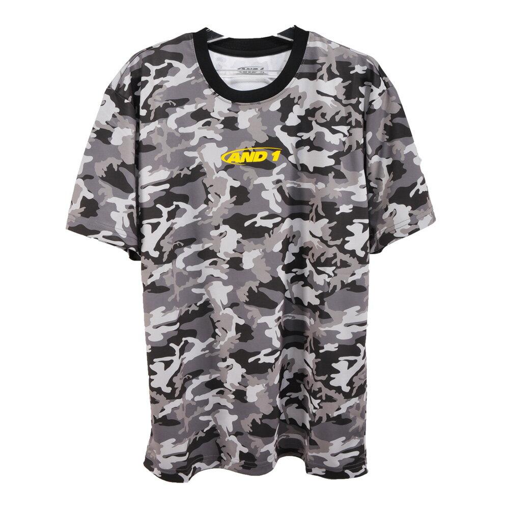 【メール便OK】AND1(アンドワン) S738F10912 メンズ バスケットウェア 半袖Tシャツ CAMO GRAPHIC 2 TEE