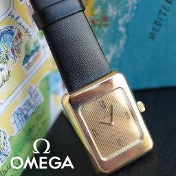 素敵 OMEGA アンティーク 70'S レディース 腕時計 タペストリー ローマン コードバン ヒルシュ革ベルト 1年保証 OH済【中古】
