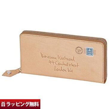 ヴィヴィアンウエストウッド Vivienne Westwood 長財布 ラウンドファスナー レディース エンベロープ ベージュ
