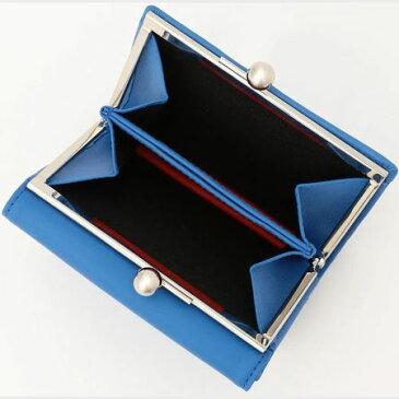 ポールスミス 財布 レディース 折財布 二つ折り がま口 口金 ミニ財布 ペタルプリントトリム ブルー Paul Smith ポール スミス
