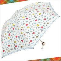 ヴィヴィアンウエストウッドヴィヴィアンウエストウッド正規品VivienneWestwoodヴィヴィアンウエストウッドラビングアイミニパラソル折りたたみ傘日傘ホワイト