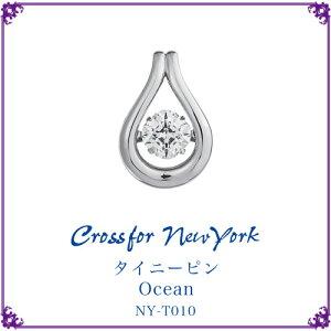クロスフォーニューヨークネックレスダンシングストーンシリーズタイニーピンOcean