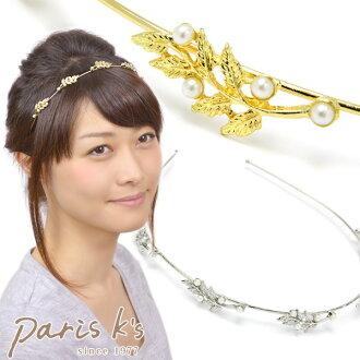 頭髮掉的金屬葉珍珠頭帶秋季和冬季時尚飾品便宜可愛流行生日禮物目前婦女小玩意可愛時尚女裝