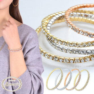 Cute bijou hoop Lady's silver party wedding ceremony adult jewelry bracelet Luxury's which bracelet gold shiningly delicate lady's rubber rhinestone Pearl Sinn pull rubber type expansion and contraction pink gold silver has a cute