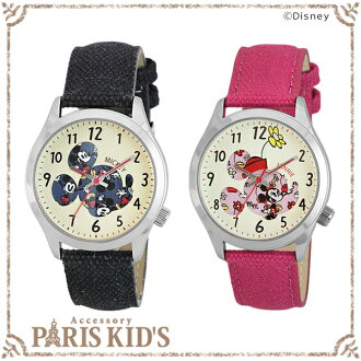 Disney Disney watch Mickey Minnie fabric belt casual watch WD-B04
