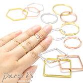 指輪 リング レディース フィーネ デザイン 3本セット 華奢 ゆびわ アクセサリー メール便 対応【パリス・キッズ】