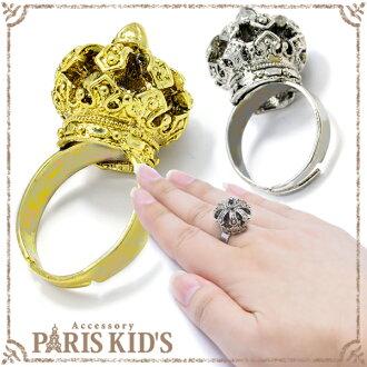 有趣的閃閃發光的線斯通配飾支持戒指環女士Royal Crown