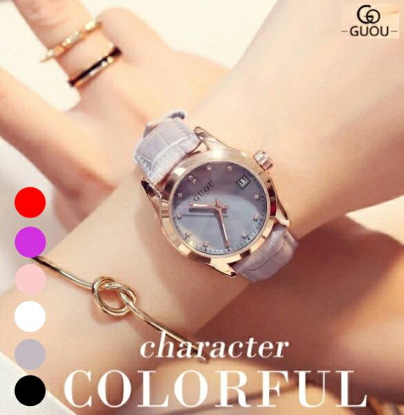 腕時計レディース腕時計女性用時計ブランドウォッチラインストーンダイヤクォーツラッピングかわいいおしゃれピンクゴールドグレーピンク
