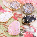 New★1個★Aliceの時計♪未来時計♪カラーチャーム★K16GP&...