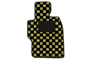 カーマット フロアマット トヨタ アリオン 19年6月〜23年10月 2WD-スポーツチェック イエロー