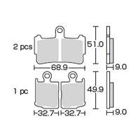 キタコ∇VFR1200F(SC63-1000001〜)SBSブレーキパッド869HS(フロント)