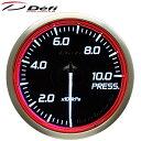 Defi Racer Gauge N2 60φ赤レッド燃圧計 圧力計 0〜1000kPa