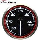 Defi Racer Gauge N2 60φ赤レッド油温計 温度計 30〜150℃