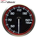 Defi Racer Gauge N2 60φ赤レッド水温計 温度計 30〜150℃