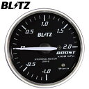 BLITZ RACING METER SD 60φ赤 ターボ計 ブースト計 -1.0〜2.0...