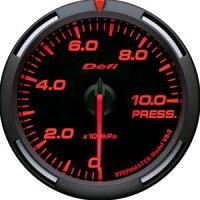 【即納】Defiレーサーゲージ赤60φ圧力計