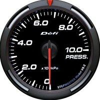 【即納】Defiレーサーゲージ白60φ圧力計