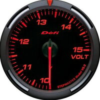 【即納】Defiレーサーゲージ赤60φ電圧計