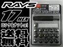 【即納・正規品】RAYS 17HEX ロック&ナットセット 4H用 クローム