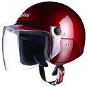 ジェットタイプ AP-603 apiss AP-603 セミジェットヘルメット キャンディレッド リード工業 1個