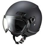 【送料無料】マルシンバイクヘルメットMS-340ジェットヘルメットマットブラックMMS-3401個【あす楽対応】