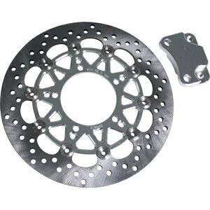 Optimum(オプティマム)ブレーキディスク260mmキャリサポセットシルバーシグナス適合車種:シグナスメーカー品番:OP10986(バイク用・カスタムパーツ・シグナス・ブレーキ系)