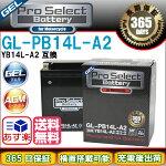 【送料無料】プロセレクトバイクバッテリーGL-PB14L-A2(YB14L-A2互換)ジェルタイプ液入り充電済み【あす楽対応】