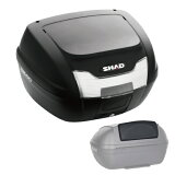【セット売り】SH40 トップケース 無塗装ブラック バックレスト セット SHAD(シャッド) 無塗装ブラック 1セット