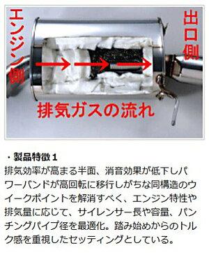 BKアクセラ|ステンマフラー【オートエクゼ】マツダスピードアクセラBK3P(-H22/3)プレミアムテールマフラー