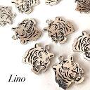 parts shop Linoで買える「【2個入り】虎 チャーム 個性的 動物 parts shop Lino ハンドメイド ピアス イヤリング」の画像です。価格は60円になります。