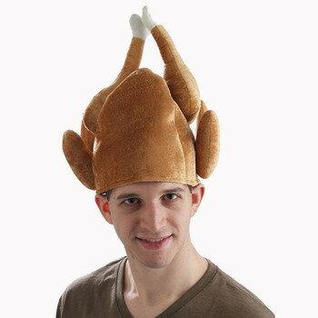 ロースト・ターキーハット 【 キャップ 帽子 仮装 フード 笑える 食べ物 小物 コスプレ かぶりもの 七面鳥 変装グッズ クリスマス 面白 爆笑 おもしろ 】