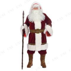 ファンワールド(Fun World) DXオールドタイム・サンタクロース 大人用(Std) [Old Time Santa Hooded Robe Set]♪クリスマス サンタ衣装 メンズ 男性用 コスプレ コスチューム サンタ服 大きいサイズ ビ