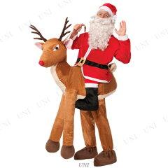 フォーラム(ForumNovelties) トナカイに乗ったサンタクロース [CO-SANTA RIDE-A-REINDEER-OS]♪クリスマス サンタ衣装 メンズ 男性用 コスプレ コスチューム サンタ服 笑える ウケる 爆笑 おもしろサンタ