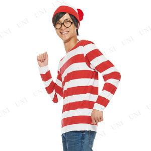 ルービーズ(rubie's)大人用ウォーリー[95678AdultWally]♪ハロウィン仮装衣装コスプレコスチューム大人用男性用メンズウォーリーをさがせウォーリーを探せ