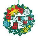 【取寄品】 [2点セット] フェルトリース メリークリスマス 【 クリスマスリース パーティーグッズ クリスマスパーティー 壁飾り 雑貨 玄関 ドア飾り クリスマス飾り デコレーション 装飾 】
