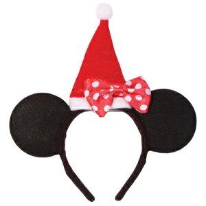 【取寄品】 クリスマス ミニーマウス カチューシャ 【 変装グッズ コスプレ Disney ディズニー公式ライセンス 小物 ヘアーアクセサリー 髪飾り ヘッドバンド 仮装 】