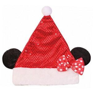 クリスマス ミニーマウス キラキラサンタ帽子 【 仮装 ディズニー クリスマス コスプレ サンタ アクセサリー 小物 ハット Disney 変装グッズ キャップ ディズニー公式ライセンス かぶりもの