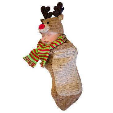ベビートナカイ 【 コスプレ 衣装 サンタ 赤ちゃん 仮装 クリスマス 子供用 サンタコスチューム キッズ 】
