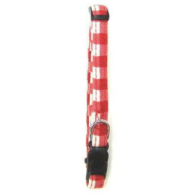 岡野製作所(ONS) コットンチェックカラー #10 赤 【 ペットグッズ ペット用品 イヌ いぬ 首輪 犬用品 】