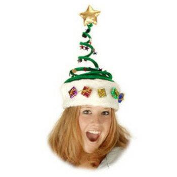 スプリング・クリスマスツリーハット 【 キャップ 帽子 おもしろ 爆笑 かぶりもの 笑える 面白 コスプレ 小物 変装グッズ 仮装 】
