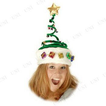 【あす楽12時まで】 スプリング・クリスマスツリーハット [ 仮装 かぶり もの おもしろ クリスマス コスプレ ツリー 変装グッズ 爆笑 かぶりもの 笑える 小物 キャップ 帽子 面白 ]