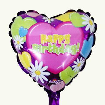 【スティックバルーン】ハートビートバースデー エアフィル フラワー コスモス お花 パープル プレゼント【あす楽】