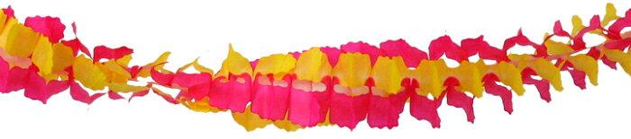 ガーランド ピンク/イエロー (紙製3m)★パーティーグッズ【日本製/誕生日/結婚式/二次会/装飾/女子会/飾り/ルームデコレーション/バースデー/ウェディング/パーティ】