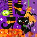 ハロウィン ランチョンナプキン ブラックキャット 8枚入り 33cm角 アメリカ製 黒猫 オレンジ かわいい 【2点までネコポスOK あす楽】